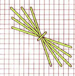 Wheat stitch Counted