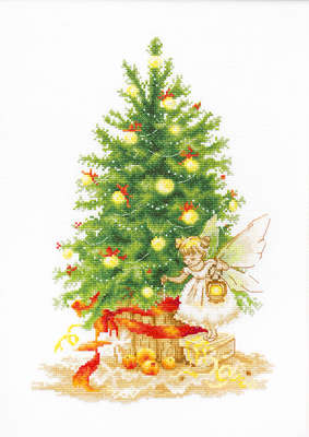 Fairy and Christmas Tree