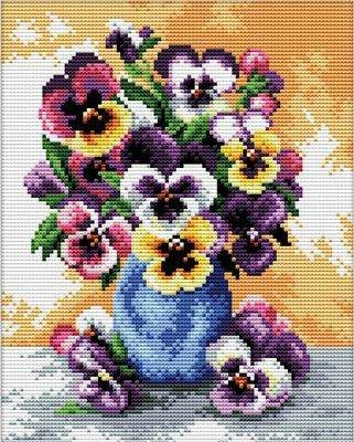 Vase of Pansies