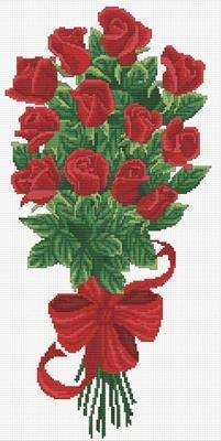 Bouquet of Red Rosebuds