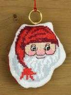 Santa Mitten Ornament - click for larger image