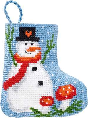 Snowman Mini Stocking - click for larger image