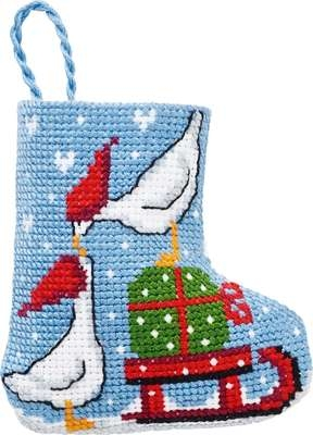 Geese Mini Stocking - click for larger image