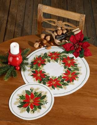 Poinsettia Table Mat - click for larger image