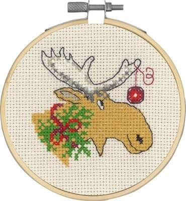 Moose and Christmas Ball - click for larger image