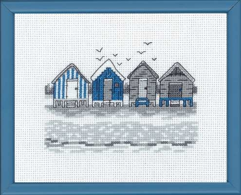 Blue Beach Huts - click for larger image