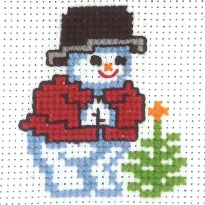 Snowman with Spruce Branch - click for larger image