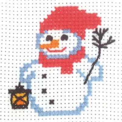 Snowman with Lantern - click for larger image