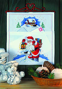 Santa Christmas Post Hanger - click for larger image