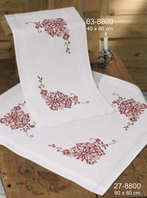 Red Floral Table Cover - click for larger image