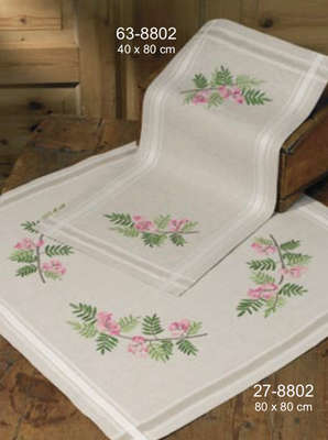 Pink Floral Table Cover - click for larger image