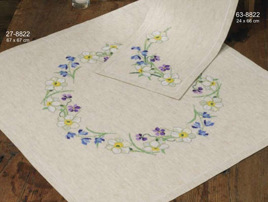 Spring Flowers Table Cover - click for larger image