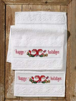 Happy Holiday Towels - click for larger image