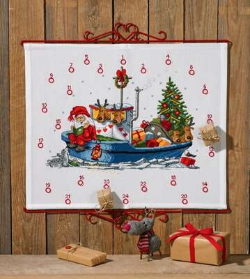 Santa with Boat Advent - click for larger image