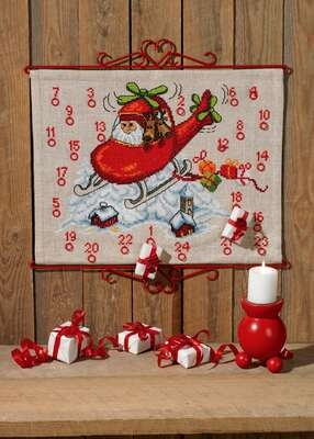 Santa Claus Helicopter Advent - click for larger image