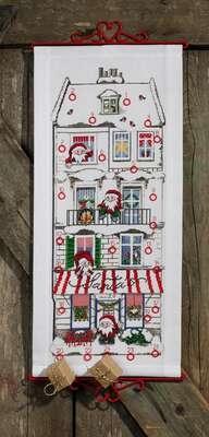 Santa's House Advent Calendar - click for larger image