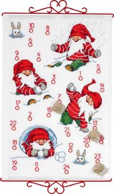 Elfs Playing Advent Calendar - click for larger image