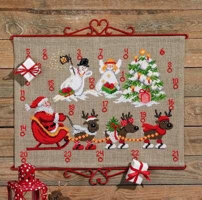 Reindeer and Snowmen Advent Calendar - click for larger image