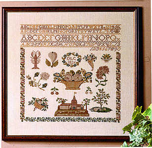 Biedermeier 1826 sampler - click for larger image