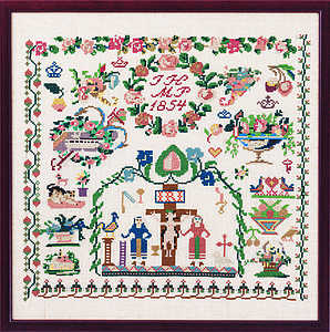 Hamburg 1854 sampler - click for larger image