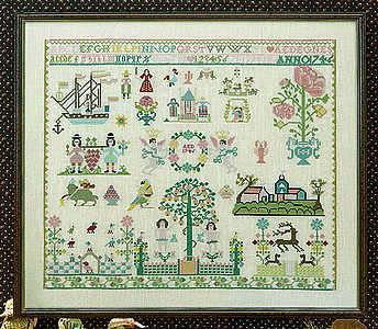 Hamburg 1746 sampler - click for larger image