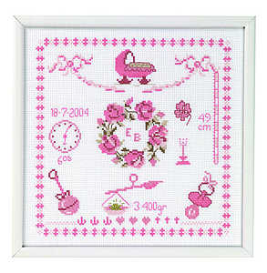 Baby girl nursery birth record - click for larger image