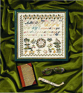 Biedermeier 1827 sampler - click for larger image