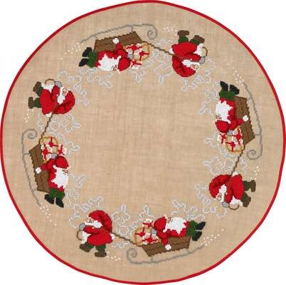 Santa and Sleigh Tree Skirt - click for larger image