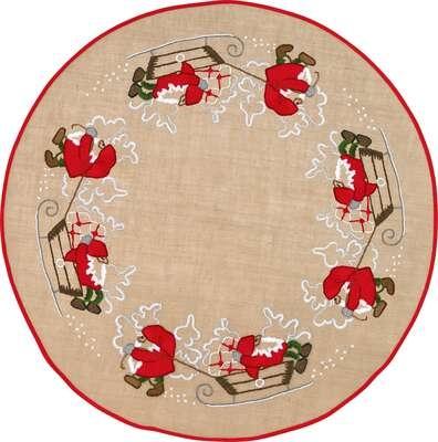 Santa and Sledge Tree Skirt - click for larger image