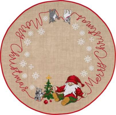 Merry Christmas Tree Skirt - click for larger image