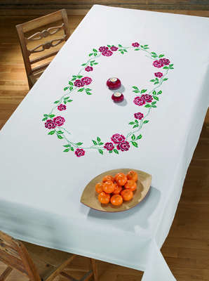 Red Roses Large Table Cover - click for larger image