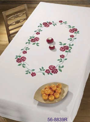Red Rose Table Cover - click for larger image