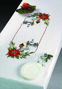Poinsettia tablecover - click for larger image