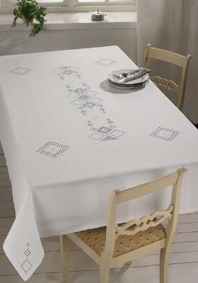Large White Table Cover - click for larger image