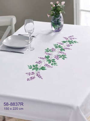Purple Floral Table Cover - click for larger image