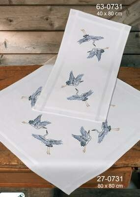 Cranes Table Runner - click for larger image