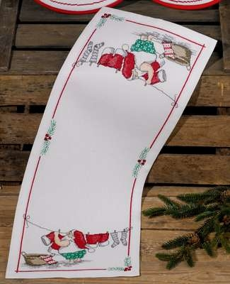 Elf Washing Table Runner - click for larger image