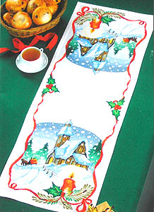 Christmas Scene Table Runner - click for larger image
