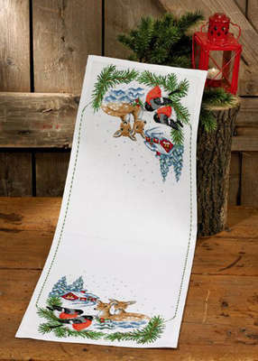 Birds and Deer Table Runner