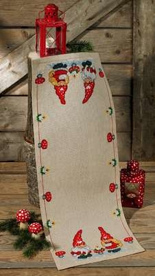 Elves and Hearts Table Runner