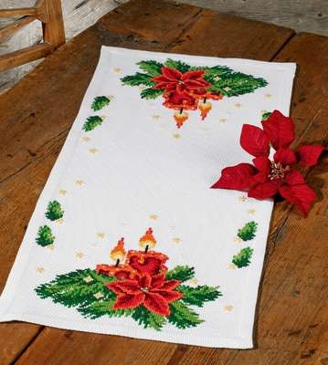 Christmas Candle Table Runner