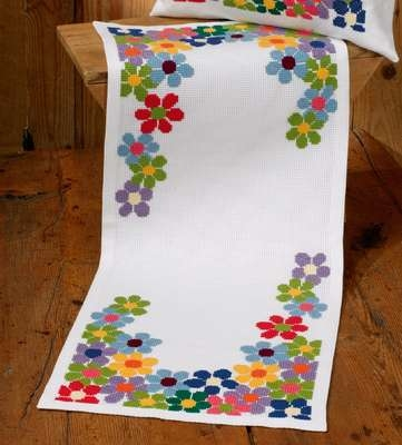 Anemones Table Runner - click for larger image
