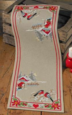 Christmas Night Table Runner - click for larger image