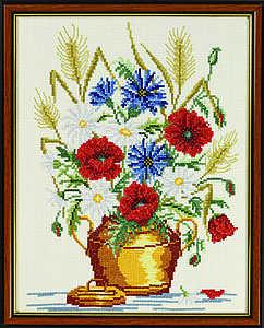 Harvest flower vase - click for larger image