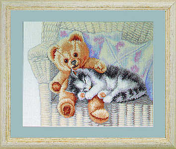 Kitten and teddy - click for larger image