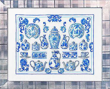 Delft Blue Sampler - click for larger image