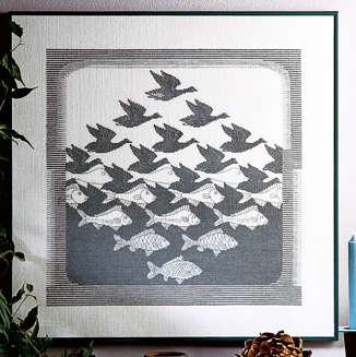 Bird & Fish Dark Grey - click for larger image