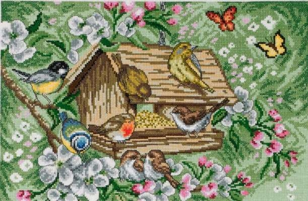 Birds in Birdhouse - click for larger image