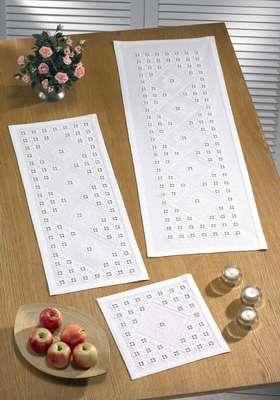White long table runner - click for larger image