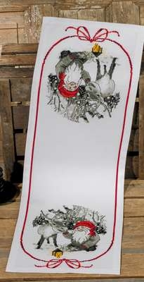 Elf and Reindeer Table Runner - click for larger image